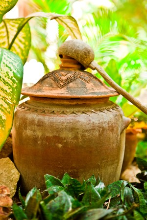 Antique water container photo