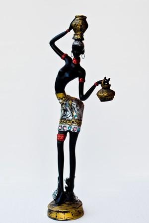 African women carrying pot. photo