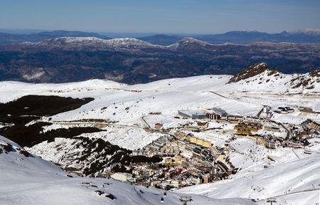 Horizontal view of a spanish sky station, Prado Llano, Sierra Nevada.  photo