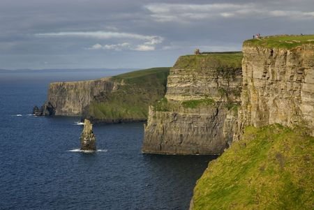 Cliffs of Moher -Ireland- with unrecognizable people photo