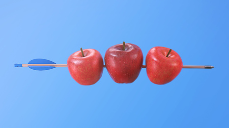 Three Apples Pierced on a Arrow