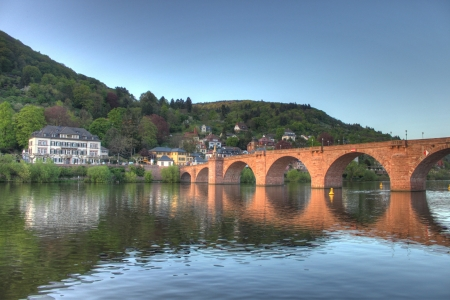 Old bridge on Neckar river in Heidelberg Stock Photo - 14185740