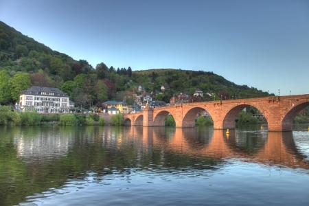 Old bridge on Neckar river in Heidelberg Stock Photo - 14185740