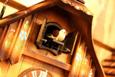 cuckoo clock: Esto es un p�jaro de salir de un reloj de cuco cuando decir la hora.