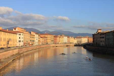 a corner of Pisa city in the afternoon photo
