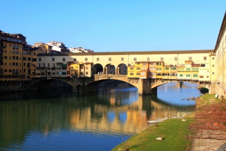 Old Bridge of Ponte Vecchio over Arno River, in Florence, Italy photo