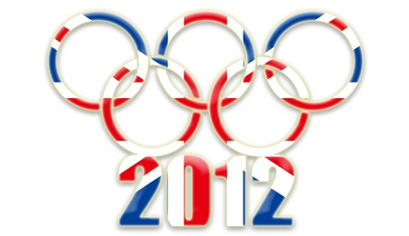 olympic symbol: 2012 London Olympics games_white background