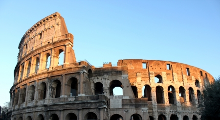 Colosseum in sunset photo