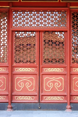 Chinese court style door