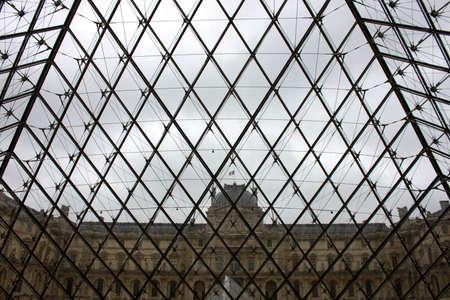 louvre pyramid: Louvre pyramid Editorial