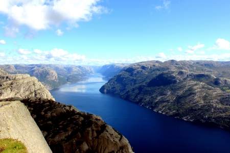 a top view of sognefjord in Norway 免版税图像