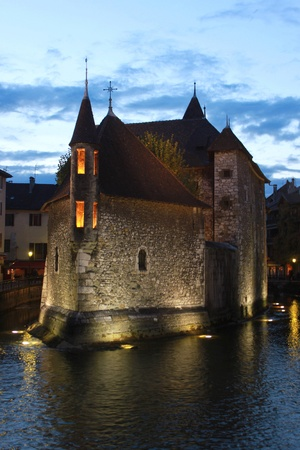 Palais de l Isle in Annecy, France, near Annecy lake