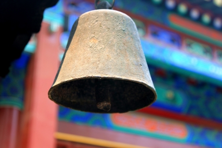 chinese culture: a old bell in the Chinese temple Stock Photo