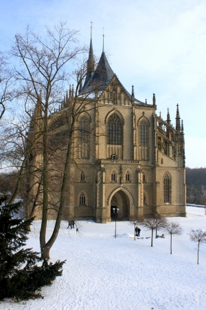 Cathedral of St  Barbara in Kutna Hora in Czech photo