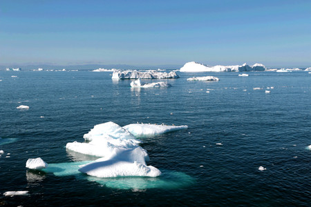 Ilulissat Ice Fjord near Ilulissat in Summer 免版税图像 - 81104161