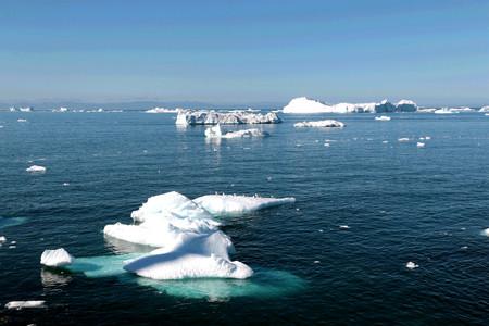 Ilulissat ijsfjord bij Ilulissat in de zomer Stockfoto