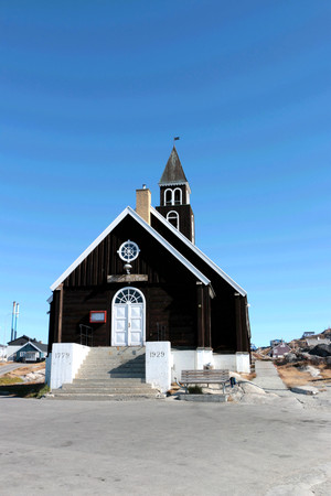 icefjord: The Zion Church (Zions Kirke) in Ilulissat, Greenland