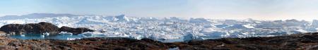 Ilulissat IceFjord (jakobshavn) near Ilulissat in Summer Banque d'images