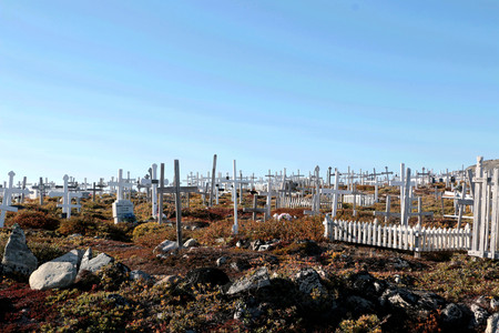 small world: the grave in Ilulissat, North Pole, Greenland