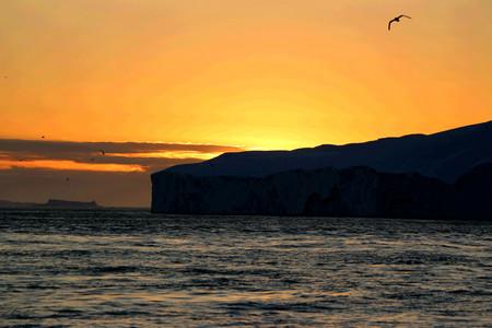 sunset scenery in  Ilulissat
