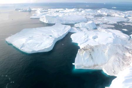 Ilulissat Ice Fjord (jakobshavn) in de buurt van Ilulissat in de zomer Stockfoto