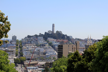 A view of Coit Tower in San Francisco Stock Photo