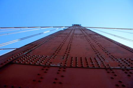 metal structure: Golden Gate Bridge Pillar in San Francisco, California, USA.