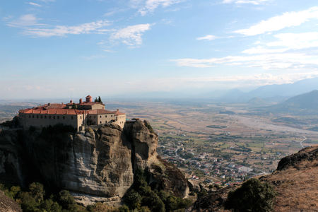 stephen: Panoramic view on the Holy Monastery of St. Stephen in Meteora, Greece.