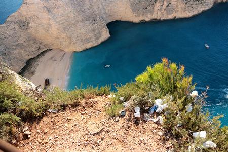 Idyllic view of Navagio Beach on Zakynthos Island in Greece. 写真素材