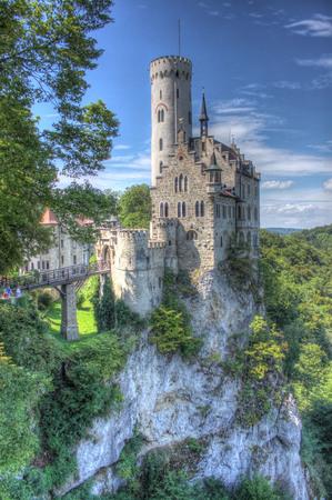 Most beautiful castles of Europe - Lichtenstein Germany. Banco de Imagens