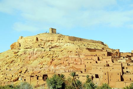 Ait Ben Haddou is a fortified city near ouarzazate in Morocco. 免版税图像