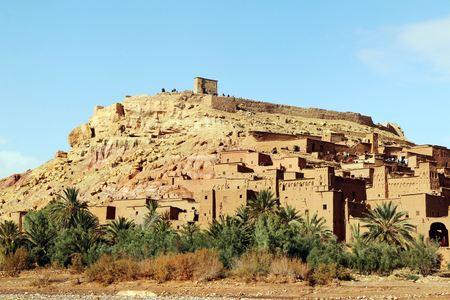 African castle - Kasbah, Ksar of Ait Ben Haddou Standard-Bild - 102635364