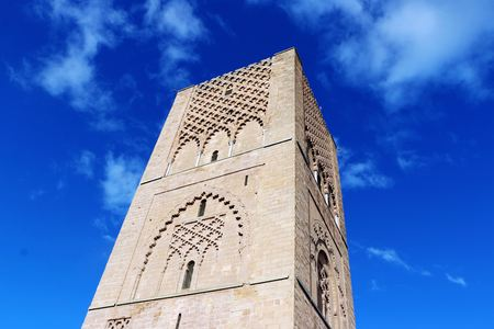 Morocco,Rabat. The Hassan Tower opposite the Mausoleum of King Mohamed V