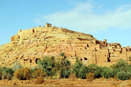 African castle - Kasbah, Ksar of Ait Ben Haddou Standard-Bild - 102635740