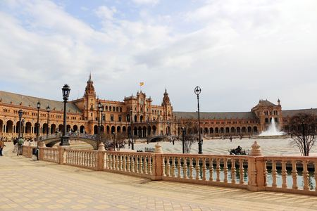 Seville Spain Spanish Square Plaza de Espana.
