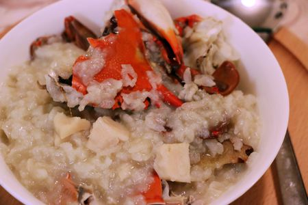delicious asian style crab rice with vegetables
