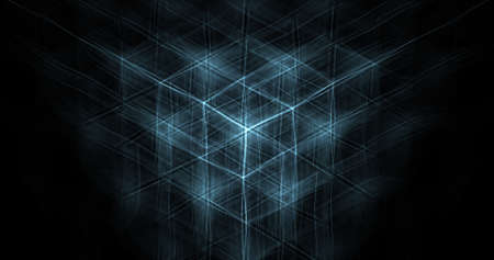 hexagonal background design with blue lights.