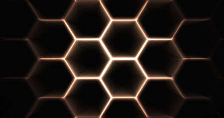 hexagonal background design 免版税图像