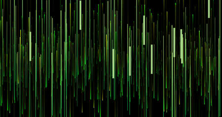 Sound waves height background. Music and audio light waves banner. Magic bright colors stripes.