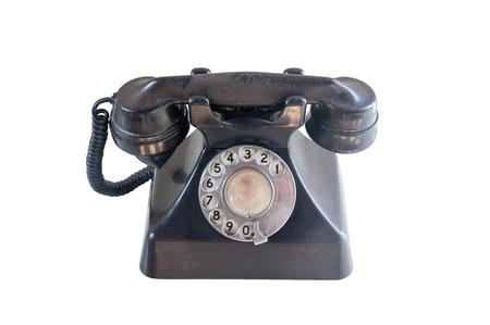 old phone: The Old Rotary Phone Isolated