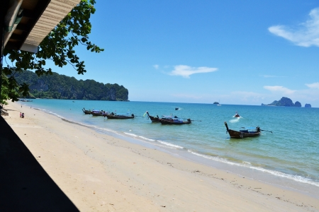 The beach of Ao Nang, near Krabi in southern Thailand  photo