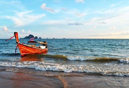 aonang:   Boat at Ao-Nang Bay