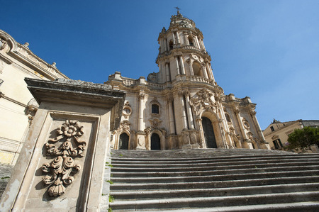 ragusa: The baroque Saint George cathedral of Modica in the province of Ragusa in Sicily in Italy