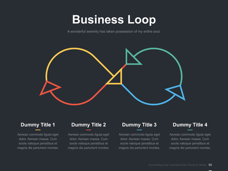 Business vector infographic slide template 0001