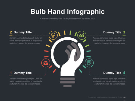 simple background: Business vector infographic slide template 0003