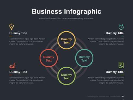 editorial design: Business vector infographic slide template 0005