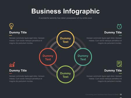 Zakelijke vector infographic diasjabloon 0005
