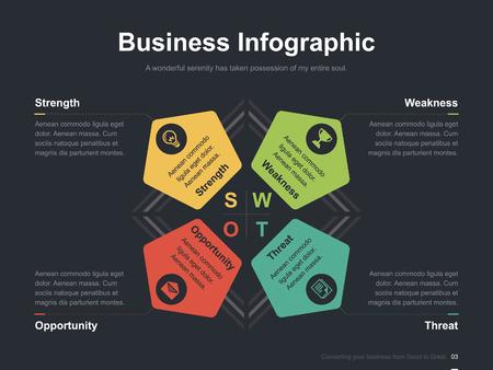Zakelijke vector infographic diasjabloon 0009