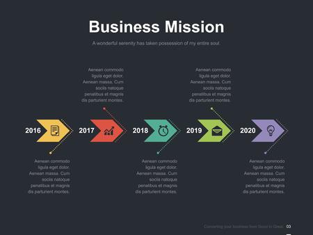Zakelijke vector infographic diasjabloon 0010