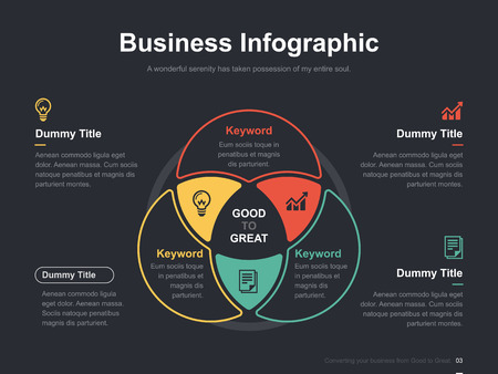 venn: Flat business presentation vector slide template with diagram